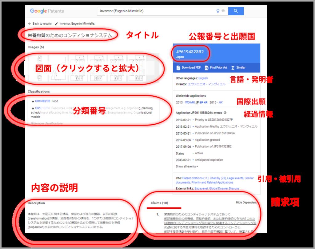 Google Patens_特許公報ページ構成