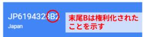 Google Patens_特許登録の記号